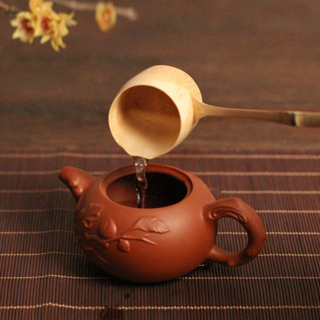 Baoblaze Natural Bamboo Water Ladle Bailer Water Dipper Home Garden Tea Ceremony Japanese Style 24cm / 30cm Choose - Light Brown, L