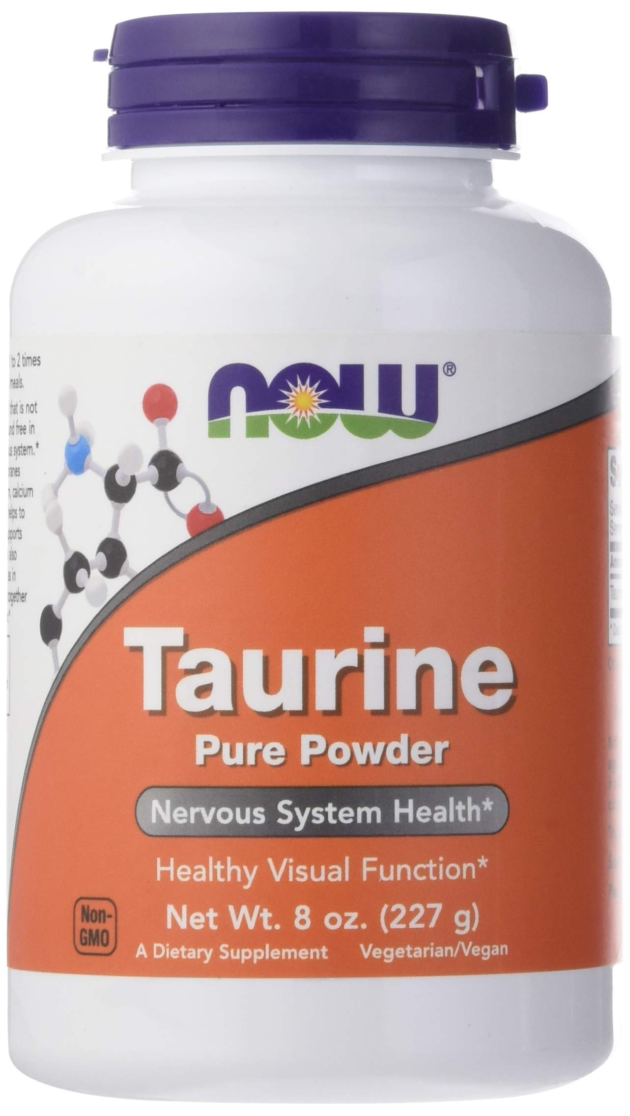 Now Supplements, Taurine Pure Powder, 8-Ounce by NOW Foods