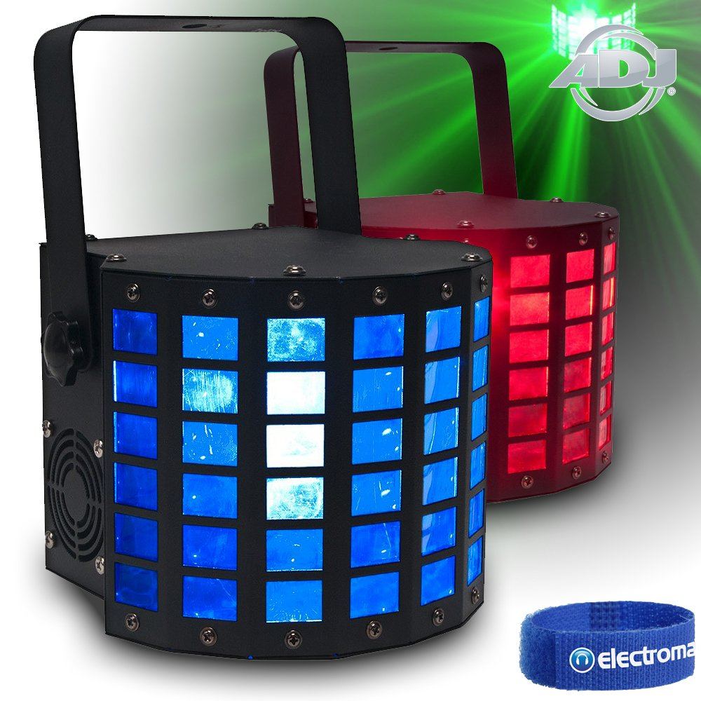 2x ADJ Mini Dekker Quad LED RGBW DMX Mobile DJ Disco Lights Derby Beams Effects Electromarket