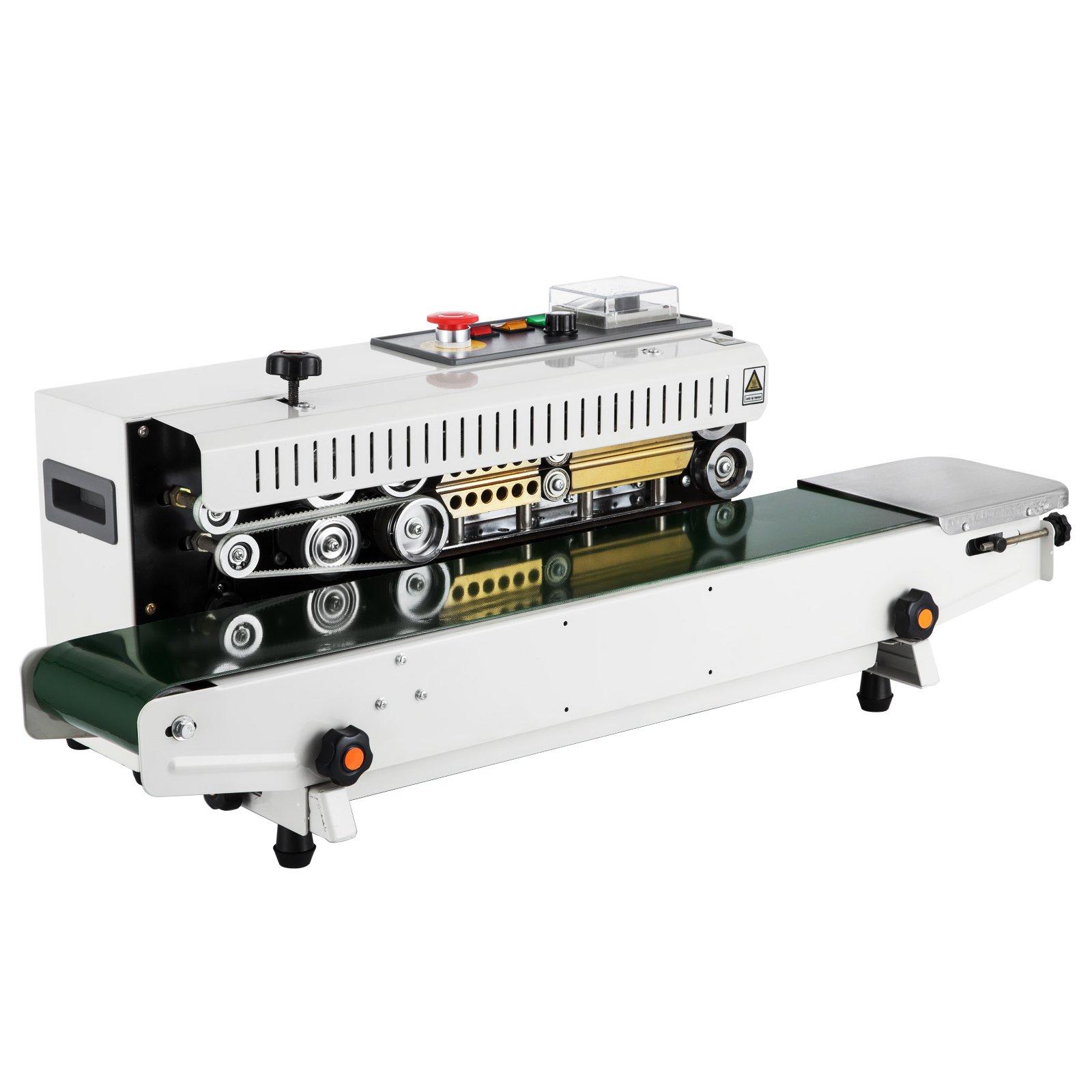 Happybuy Continuous Band Sealer FR-770 Continuous Sealing Machine with Digital Temperature Control Horizontal Sealing Sealer for PVC Membrane Bag Film (FR-770)