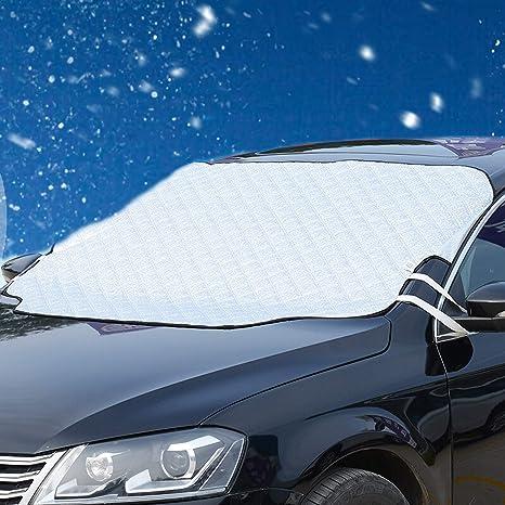 Migimi Frontscheibe Windschutzscheibe Auto Winter Scheibe Abdeckung Magnet Faltbare Abnehmbare Frostabdeckung Wasserdicht 147100cm Stoff Black 240160cm Küche Haushalt