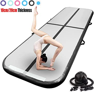 20Ft Air Track Airtrack Inflatable Tumbling Gymnastics Mat Training Sports Home