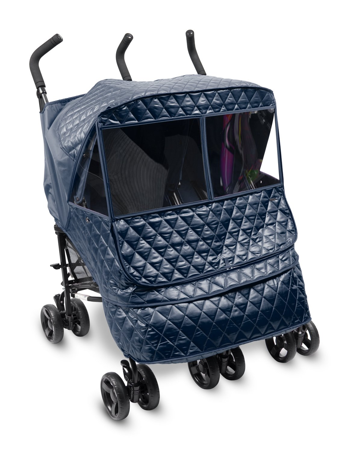 Manito Castle Alpha Twin Stroller Weather Shield (Navy)