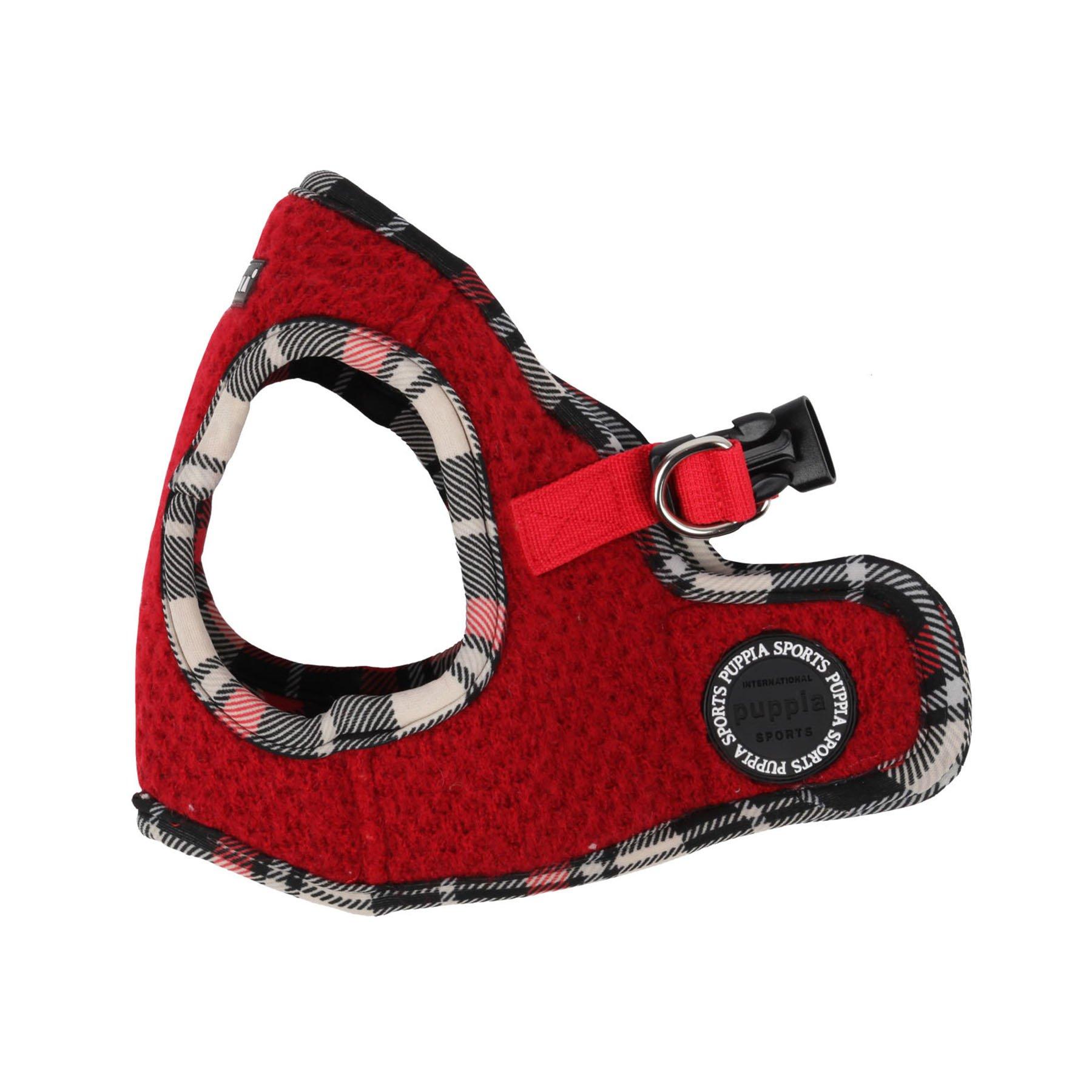 Puppia Authentic Smurf Vest Harness B, Medium, Red