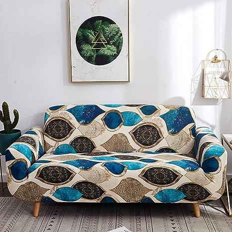 Amazon.com: Funda para sofá de poliéster elástico con diseño ...