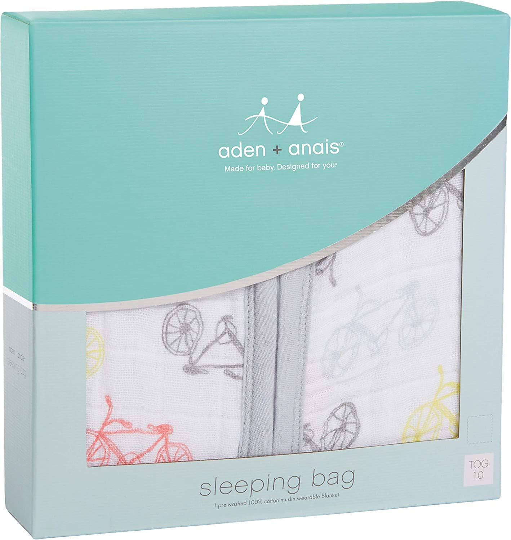 Amazon.com: aden + anais Classic Sleeping Bag, 100% Cotton Muslin, Wearable Baby Blanket, Jungle Jam, Elephant, Large, 12-18 Months: Baby