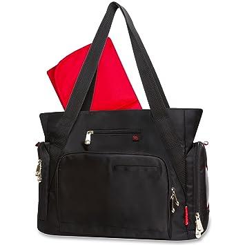 8186e72c5c0f Amazon.com   Fisher Price Fastfinder Deluxe Diaper Bag - Black Tote   Baby