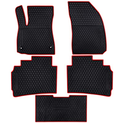 Ucaskin Car Floor Mats Custom Fit for Chevrolet Chevy Malibu 2020 2020 2020 2020 Odorless Washable Rubber Foot Carpet Heavy Duty Anti-Slip All Weather Protection Car Floor Liner-Red: Automotive