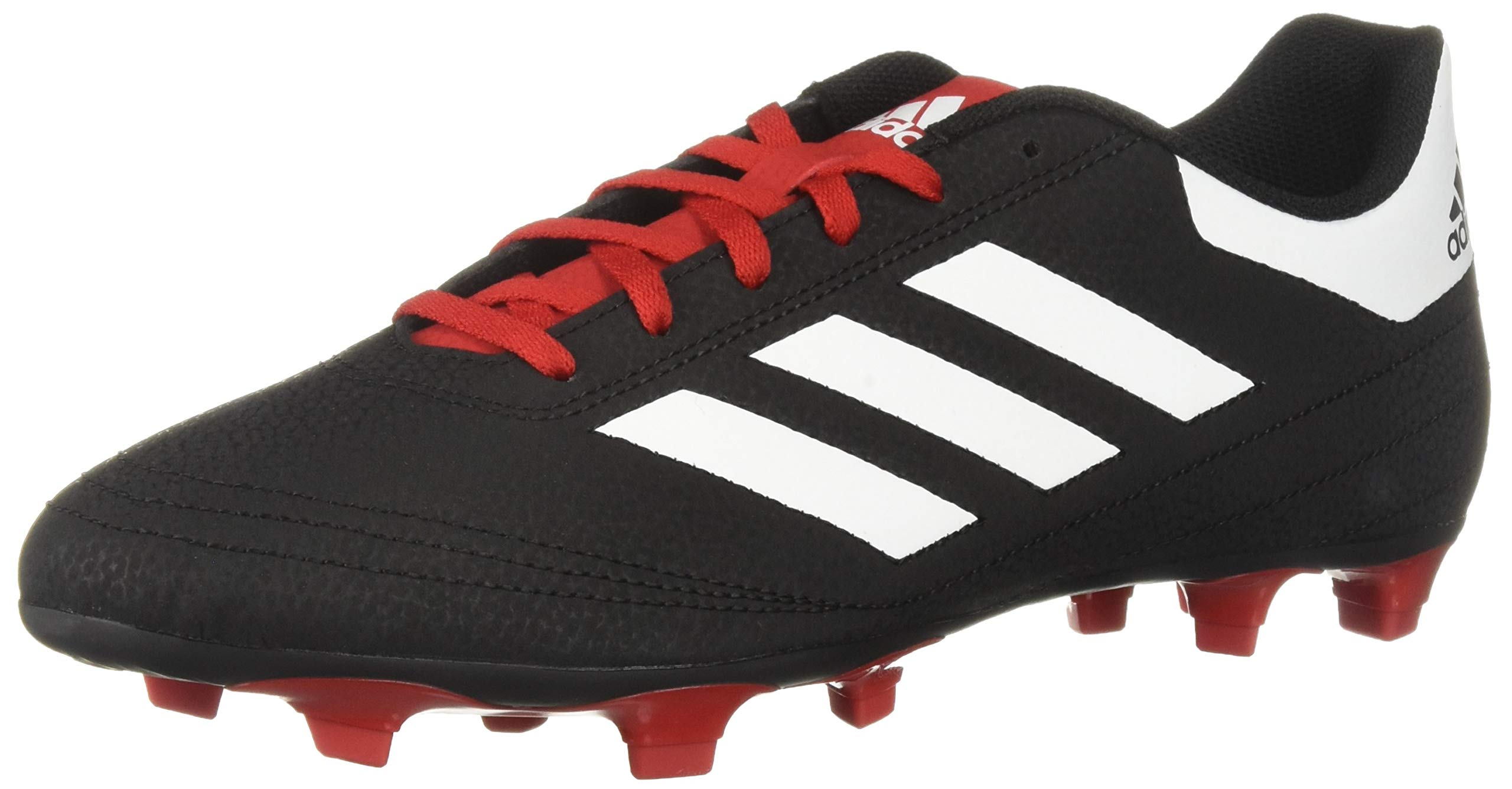 adidas Men's Goletto VI Firm Ground, Black/White/Scarlet, 6.5 M US