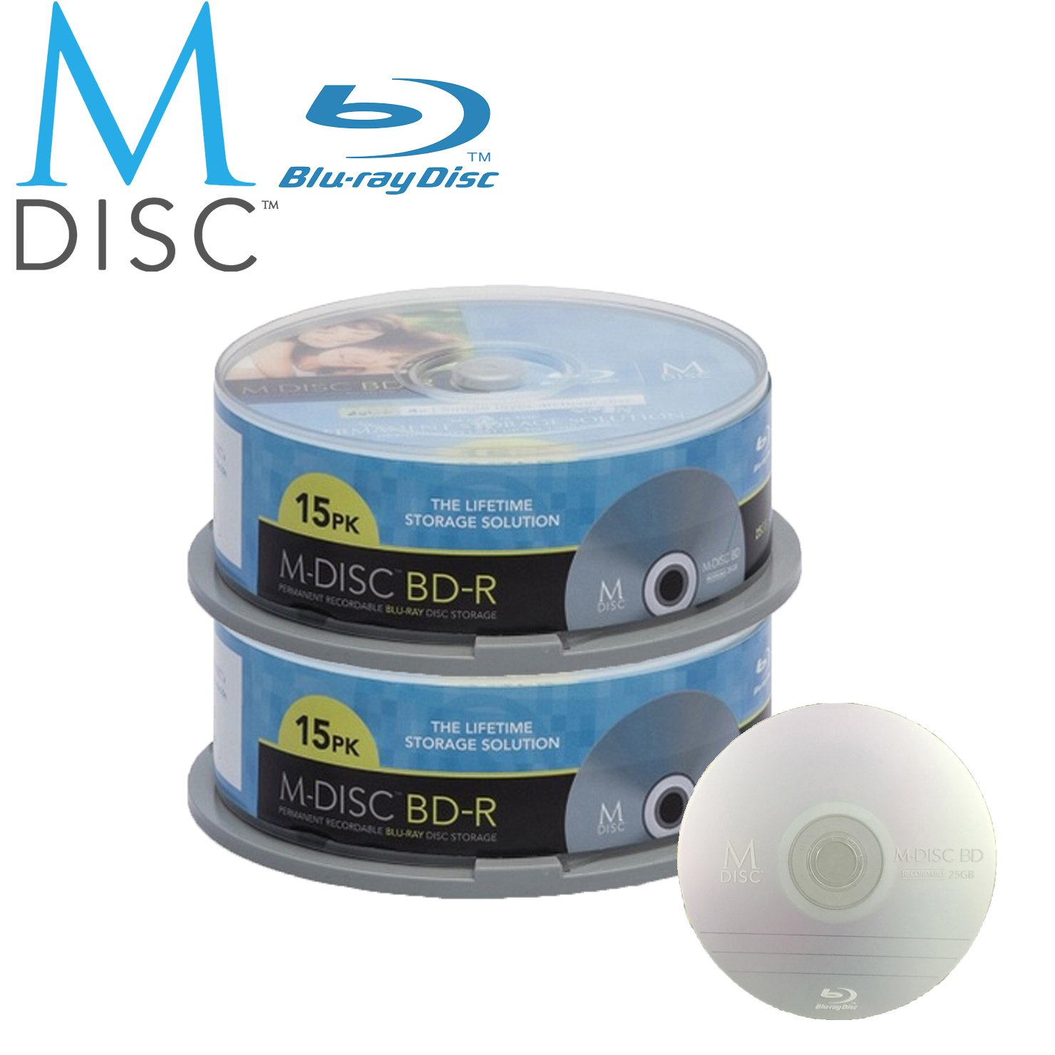 30 Pack Millenniata M-Disc BD-R 25GB 4X HD 1000 Year Permanent Data Archival / Backup Blank Media Recordable Disc by Millenniata Inc.