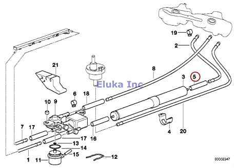 71t5TF0aBsL._SX466_ amazon com 2 x bmw genuine fuel injection supply kit for fuel hose