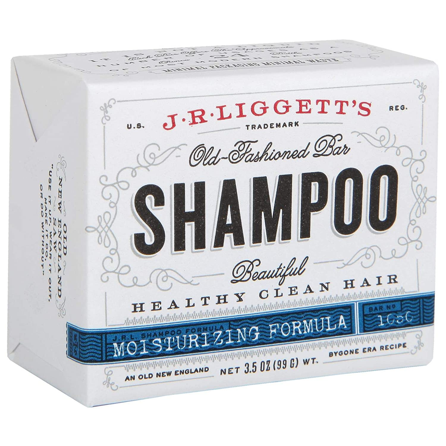 J·R·LIGGETT'S All-Natural Shampoo Bar, Moisturizing Formula - Supports Strong and Healthy Hair - Nourish Follicles with Antioxidants and Vitamins - Detergent and Sulfate-Free, One 3.5 Ounce Bar : Beauty Products : Beauty