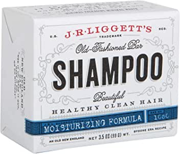 J.R.LIGGETT'S All-Natural Shampoo Bar, Moisturizing Formula - Supports Strong and Healthy Hair - Nourish Follicles with Antioxidants and Vitamins - Detergent and Sulfate-Free, One 3.5 Ounce Bar