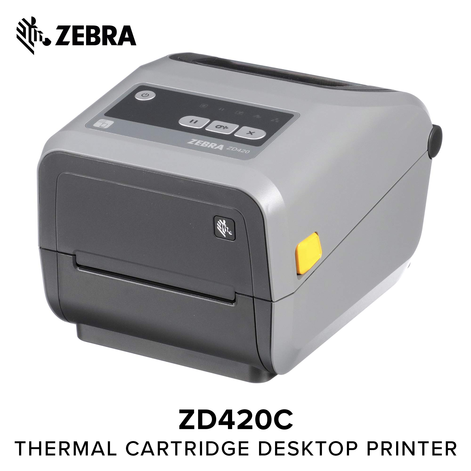 Zebra - ZD420t Thermal Transfer Desktop Printer for Labels and Barcodes - Print Width 4 in - 203 dpi - Interface: USB - ZD42042-T01000EZ by ZEBRA (Image #1)