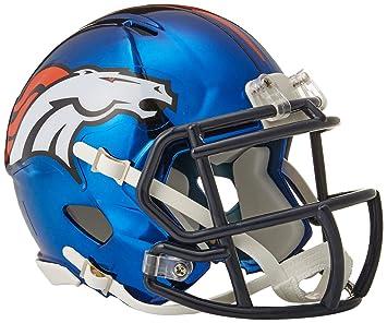 Riddell - Casco de Cromo alterno NFL Velocidad Autentico Mini tamaño Denver  Broncos c674a891b39