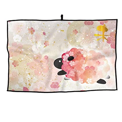 shing newyear card sheep 222280663 premium golf towel