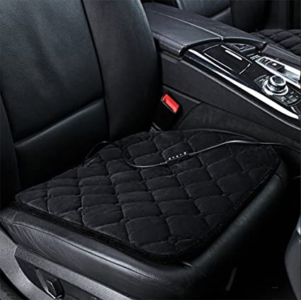 RIRUI Heated Car Seat Cushion Office And Home Chairs Heating Pad Black
