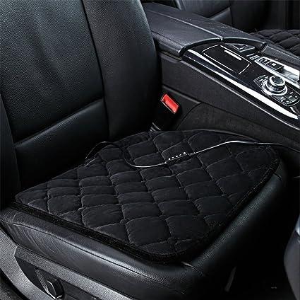 RIRUI Heated Car Seat Cushion Office And Home Chairs Heating Pad Black