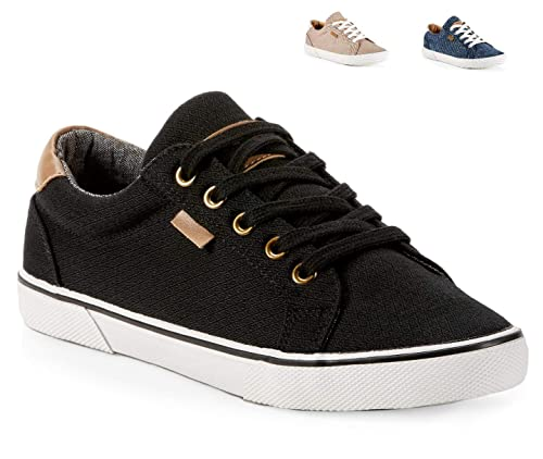 Yellow Shoes DREAMPUNCH Womens Skate Canvas Fashion Shoes Casual Trendy Sneakers Rubber Sole