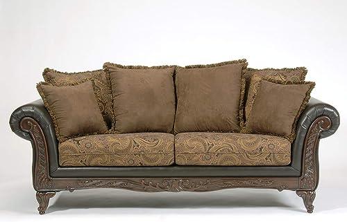 Roundhill Furniture San Marino 2-Tone Fabric Sofa - a good cheap living room sofa