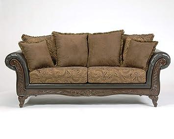 Super Roundhill Furniture San Marino 2 Tone Fabric Sofa Chocolate Uwap Interior Chair Design Uwaporg