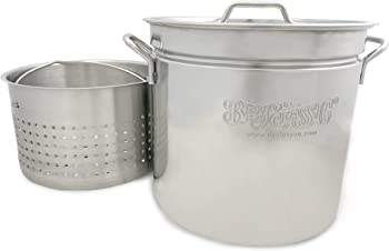 Bayou Classic Stainless Steel Domed Vented Lid Tamale Steamer