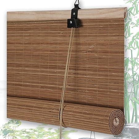 Estores De Bambú Persianas QIANDA Protección Privacidad Venecianas Enrollable Cortina For Patio Trasero/Mirador/Pérgola/Balcón, Alto X Ancho (Color : B, Size : 75cmX150cm): Amazon.es: Hogar