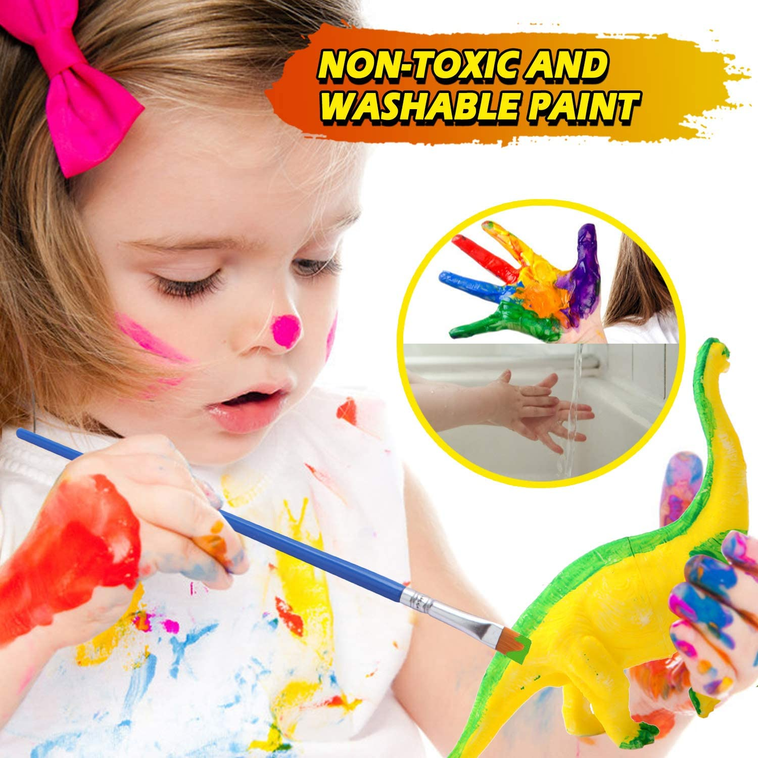 Dinosaurs Toys Art and Craft Supplies Party Favors for Kids Activities Age 4 5 6 7 8 Years Old Kids Crafts and Arts Set Dinosaur Painting Kit for Boys /& Girls Ages 6-12 Crate Your Dinosaur World