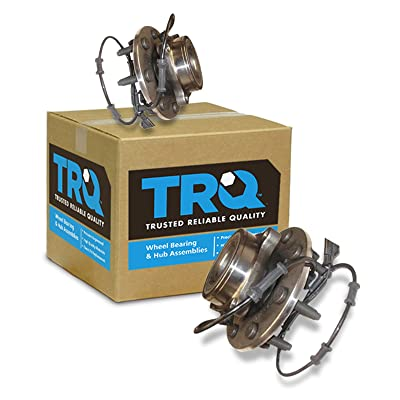 TRQ Front Wheel Hub & Bearing Left & Right Pair for 03-05 Dodge Ram 4WD w/ABS: Automotive
