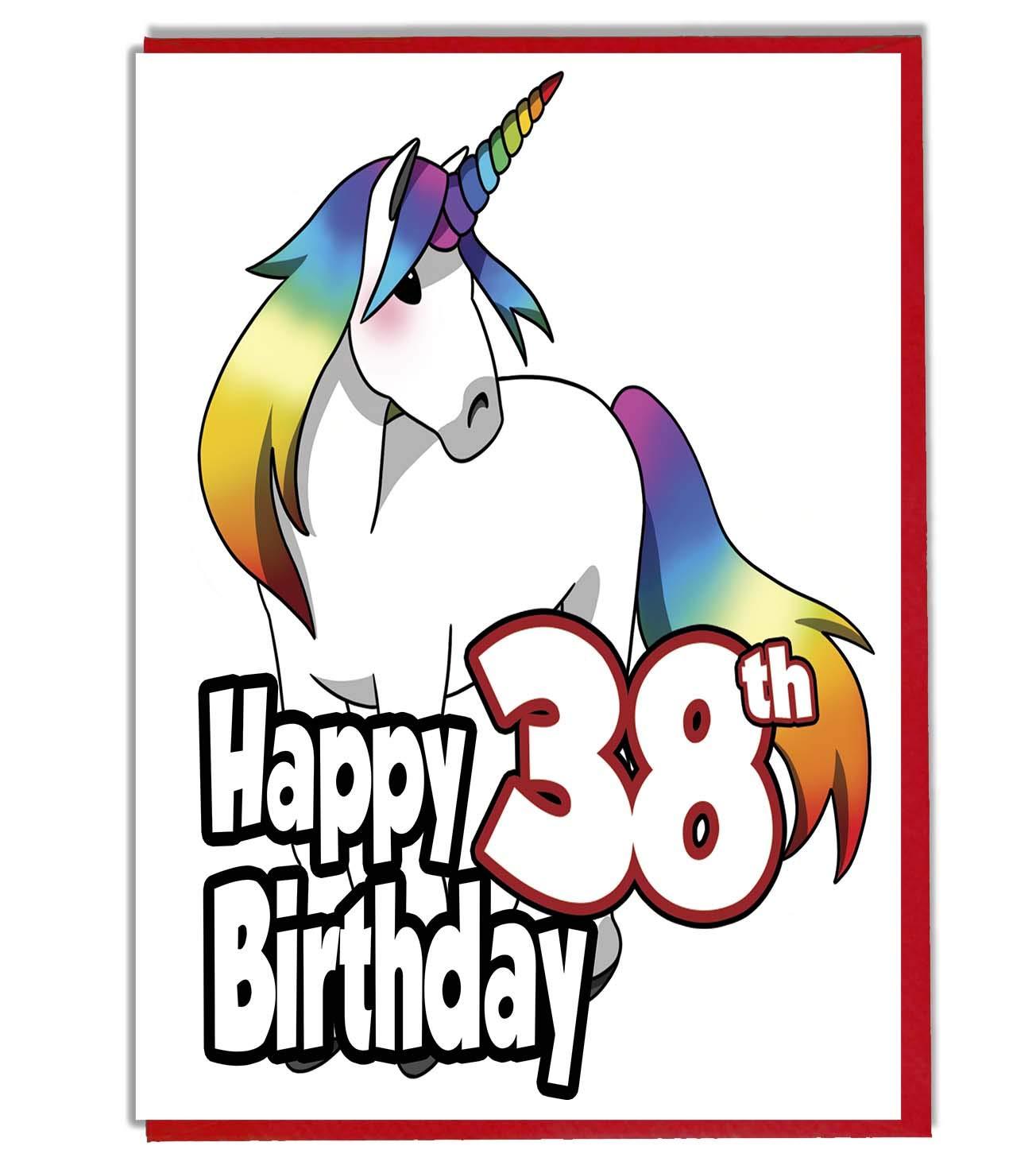 Tarjeta de cumpleaños con diseño de unicornio arcoíris 38 ...