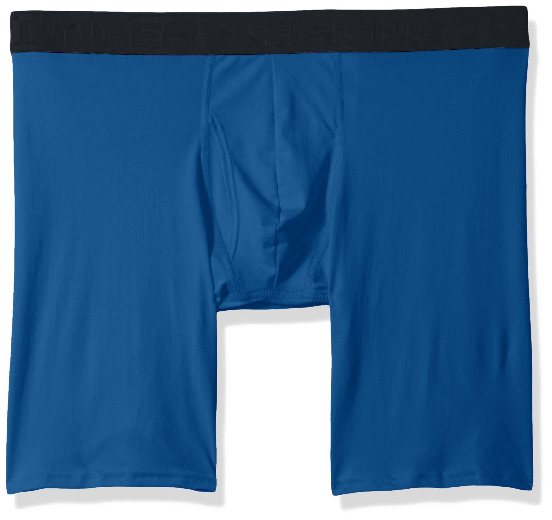 Under Armour Men's Threadborne 9'' Boxerjock, Moroccan Blue (487)/Black, X-Large
