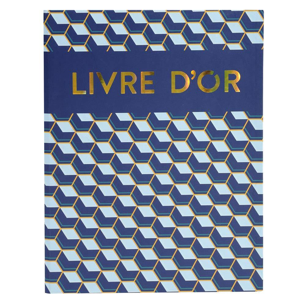 27x22cm vertical Livre dor Candy Blue 100 pages blanches