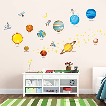 Decowall DW 1307 Planets In The Space Kids Wall Decals Wall Stickers Peel  And Stick Part 44