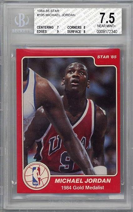 Michael Jordan 1984 85 Star 195 Rookie Card Beckett Bgs