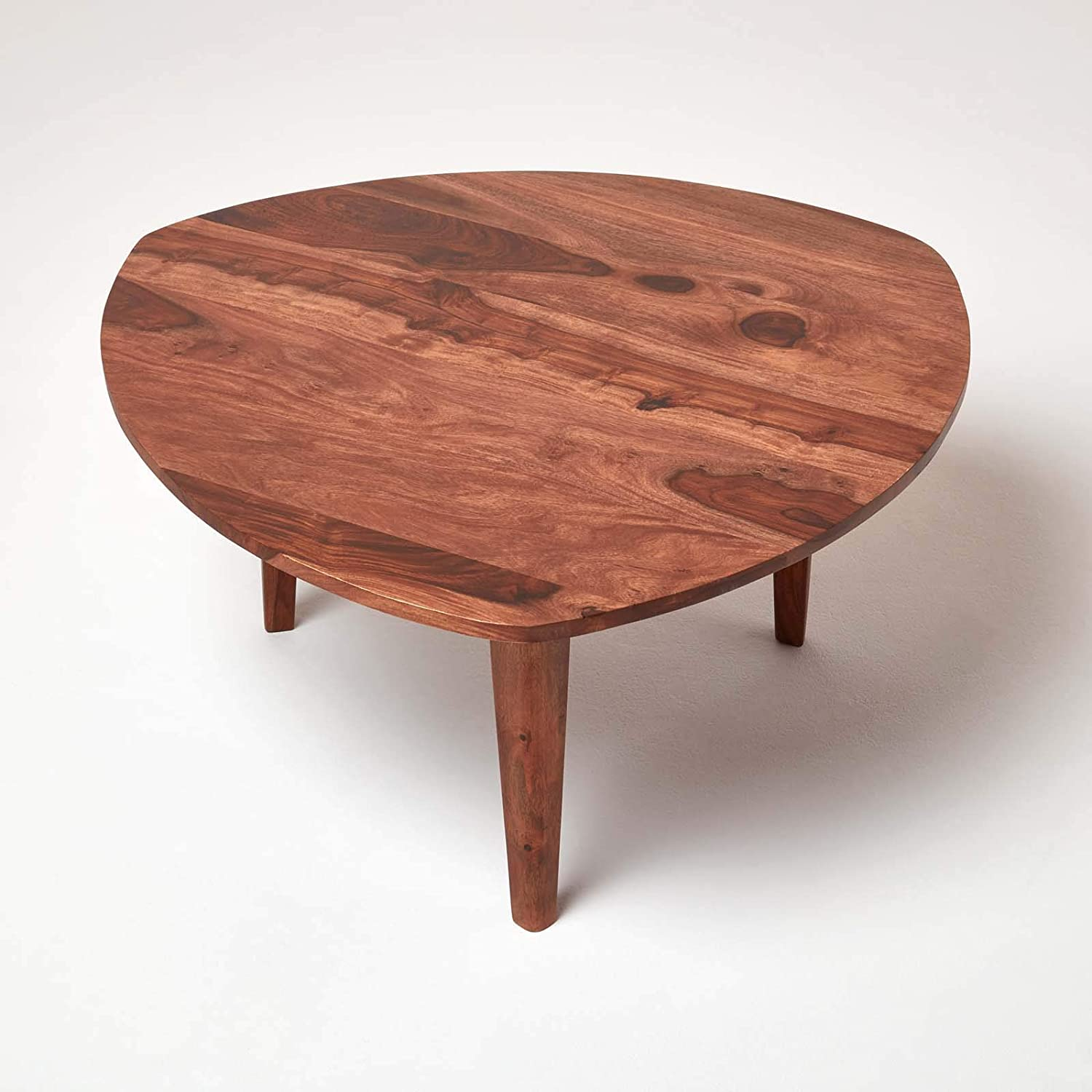 - Retro Coffee Table Triangular Furniture Side End Accent Solid