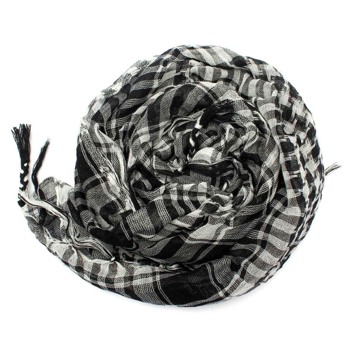 Amazon.com: VT BigHome Lightweight Unisex Tassel Palid Scarf Tactical Arab Desert Shemagh Wraps Women Men Grid Military Scarves Muslim Hijab KeffIyeh: ...
