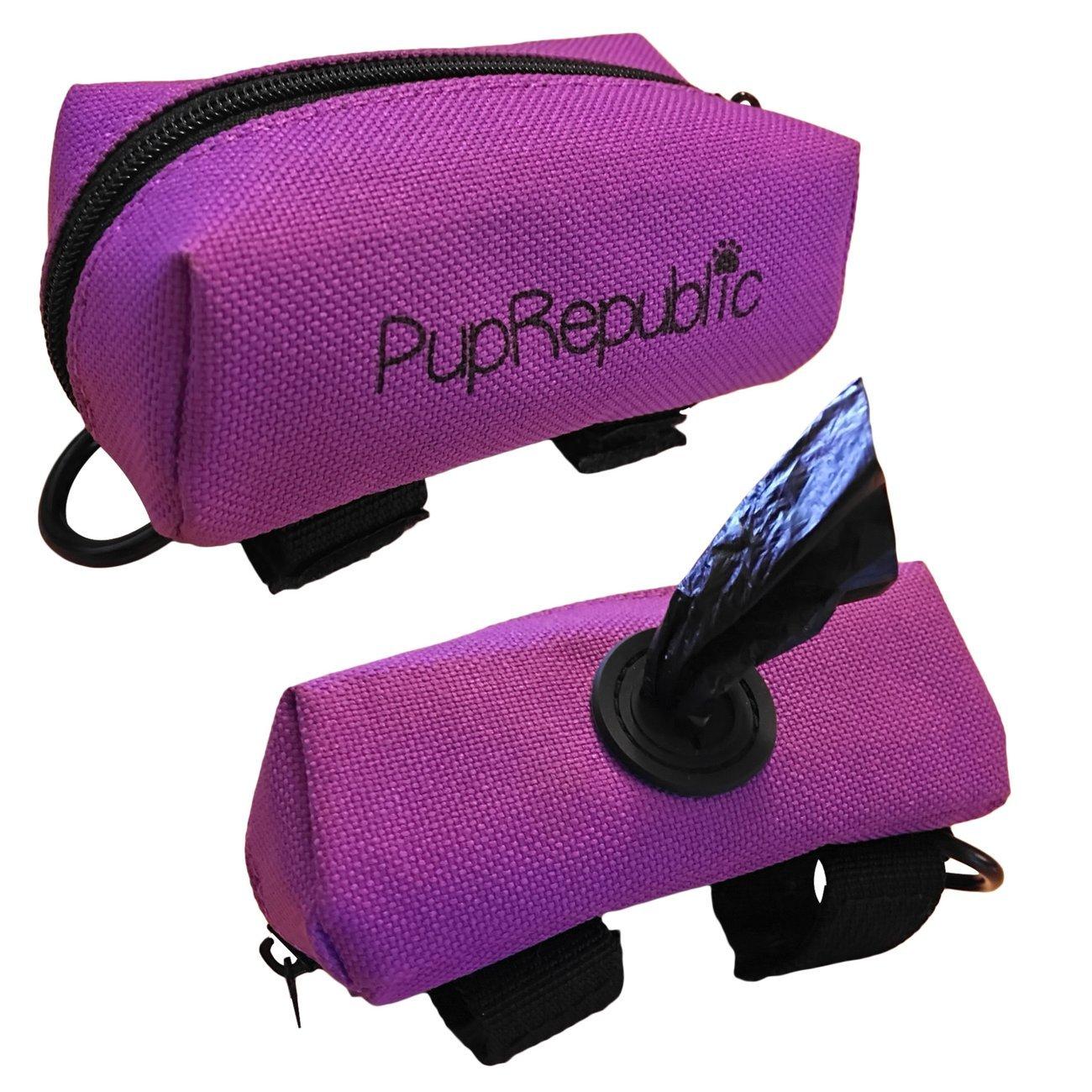 PupRepublic Soporte para bolsa de perro para guardar la correa, dispensador de bolsas de basura, soporta golosinas, ligero para correr, hacer calzado, correr