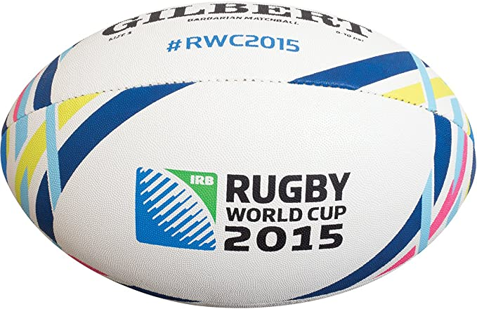Gilbert RWC 2015 Barbarian Match - Balón de Rugby, Color Blanco ...