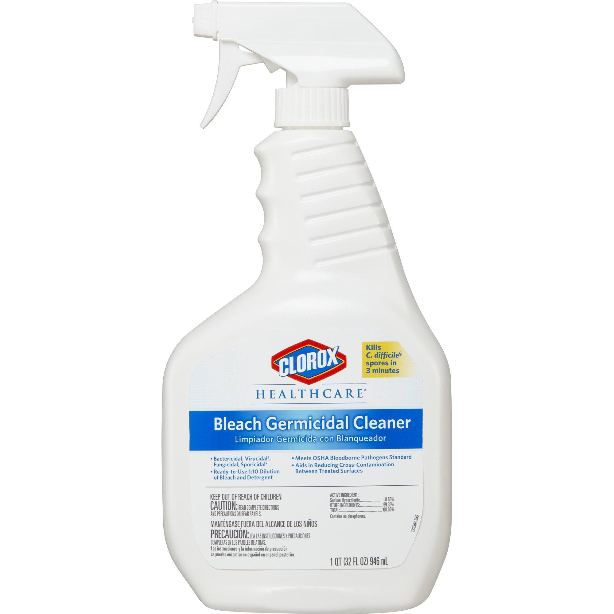 Clorox Healthcare Bleach Germicidal Cleaner Spray, 32 Ounces (For Healthcare Use) by Clorox (Image #1)