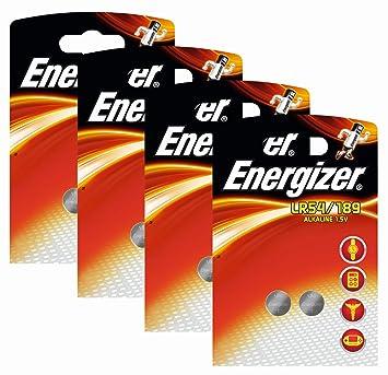 Energizer Original Lot de 2 paquets de 4 piles bouton alcaline 189 AAA 1,5 48e74c48fcbb