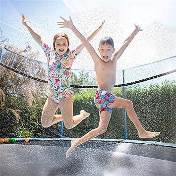 Mifelio 39.4FT Trampoline Sprinklers for Kids Outdoor Trampoline Spary Park Fun Summer Water Toys