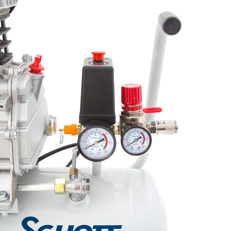 Schott Druckluft Kompressor 20 Liter 8 bar 1100 W 2 Manometer