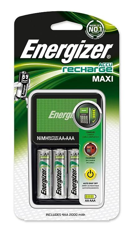 Energizer Maxi Charger - Pack de Pilas y Cargador (NiMh, AA/AAA)