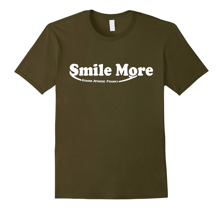 S-mi-le t shirt Mo-re Roman-Atwood - T Shirt - Goatstee