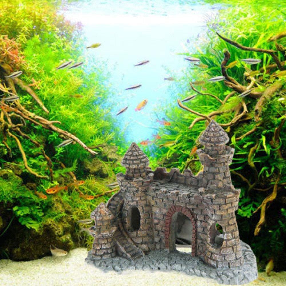 erthome Fake Stone Wine Resin Castle Underwater Decoration Aquarium Decoration Family Fish Tank Landscape Decoration New