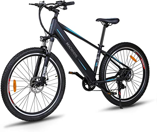 MACWHEEL Electric Bike, Removable 36V 10Ah 12.5Ah Lithium-ion Battery Pack Integrated with Frame, Shimano 7-Speed, Saddle Adjustable, Tektro Dual Disc Brakes Electric Bicycle
