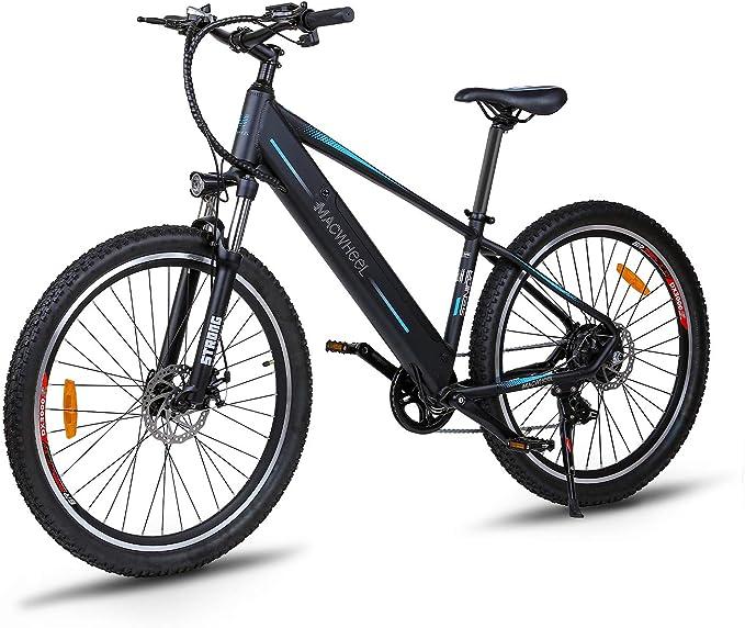 "Macwheel 27.5"" Electric Mountain Bike, 250W Brushless Motor, Removable 450Wh 36V/12.5Ah Lithium Battery, Shimano 7-Speed, Suspension Fork, Tektro Dual Disc Brakes"