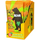BEAR Sour - Real Fruit Yoyos - Mango-Apple - 0.7 Ounce (12 Count) - No added Sugar, All Natural, non GMO, Gluten Free, Vegan - Healthy on-the-go snack for kids & adults