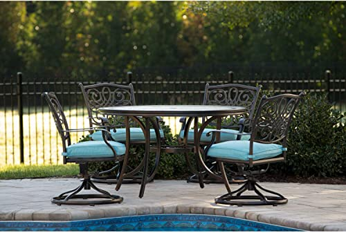 Hanover Monaco 5-Piece Outdoor Furniture Patio Dining Set