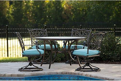 Hanover Monaco 5-Piece Outdoor Furniture Patio Dining Set